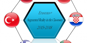 "Erasmus+ KA2 projekto ""Magic in the Classroom with Augmented Reality"" logotipo konkursas"