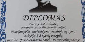 Marijampolės savivaldybės bendrojo ugdymo mokyklų 5-8 klasių mokinių istorijos olimpiada prof. dr. Jono Totoraičio vardui atminti